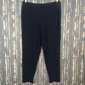 Eileen Fisher Stretch Knit Pants Large Blue Pull